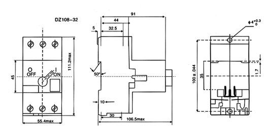 3ve3-motor-protection-circuit-breaker-dimension