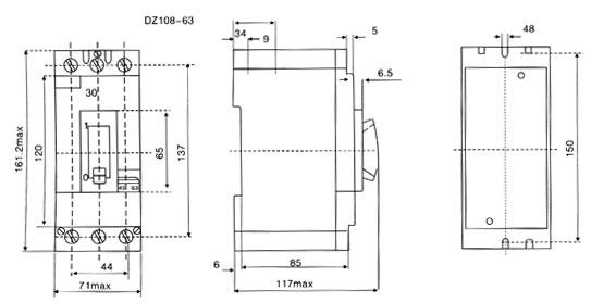 3ve4-motor-protection-circuit-breaker-dimension