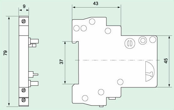 c45-of-circuit-breaker-auxiliary-block-dimensioned
