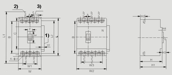 jm1z-molded-case-circuit-breaker-dimension