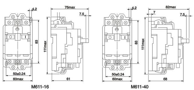 m611-motor-protection-circuit-breaker-dimension