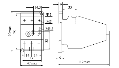 thermal-relay-3ua59-dimension